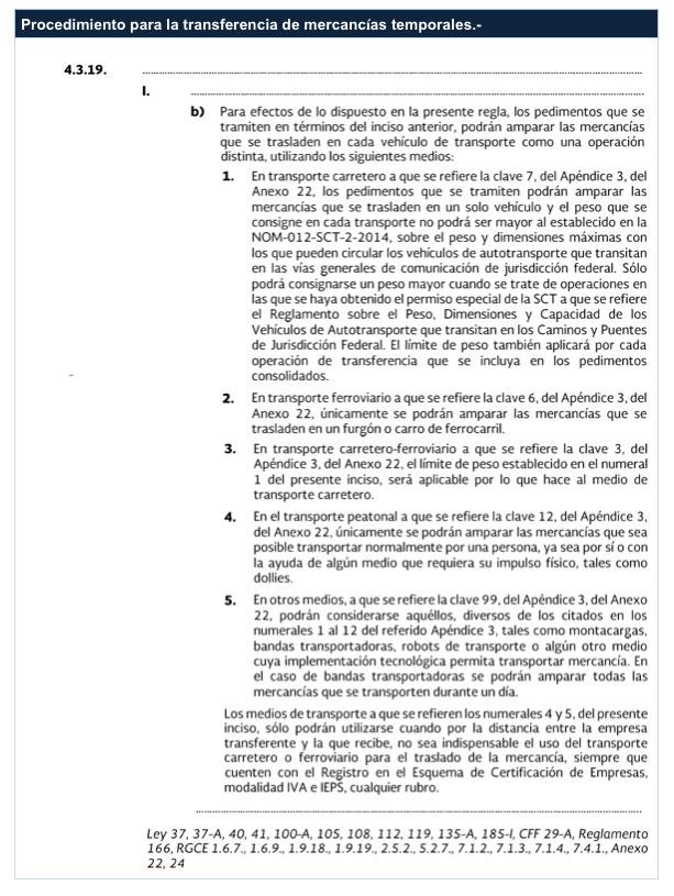 Apendice 8 anexo 22 2018 - Reglas generales de comercio exterior 2017 ...